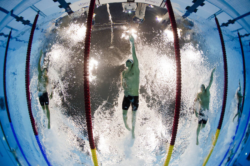 . US swimmer Michael Phelps competes in the men\'s 200m individual medley heats swimming event at the London 2012 Olympic Games on August 1, 2012 in London.      AFP PHOTO / FRANCOIS XAVIER MARIT/AFP/Getty Images