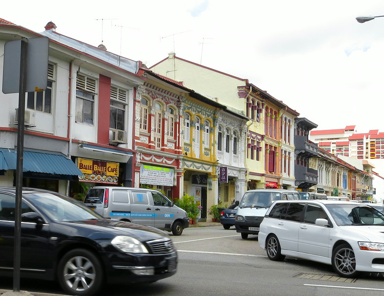 Old but rehabilitated shop houses in Jalan Besar.
