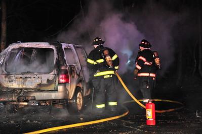 car fire at Club 40 parking lot 1-19-16
