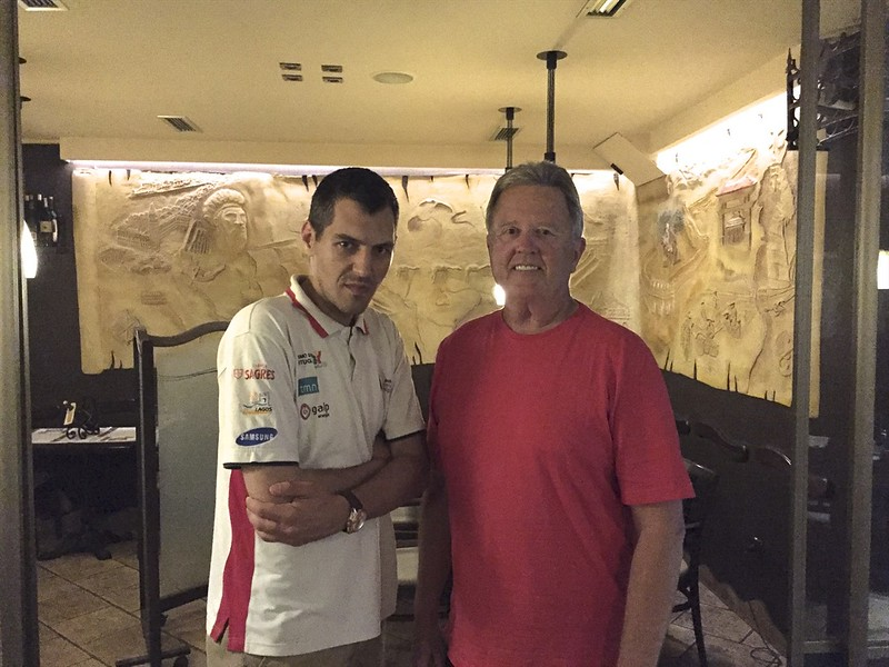 Boris and I first met in Austria.  He is a professional racecar driver.