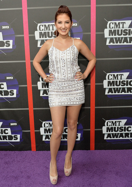 . NASHVILLE, TN - JUNE 05:  Singer Katie Armiger attends the 2013 CMT Music awards at the Bridgestone Arena on June 5, 2013 in Nashville, Tennessee.  (Photo by Rick Diamond/Getty Images)