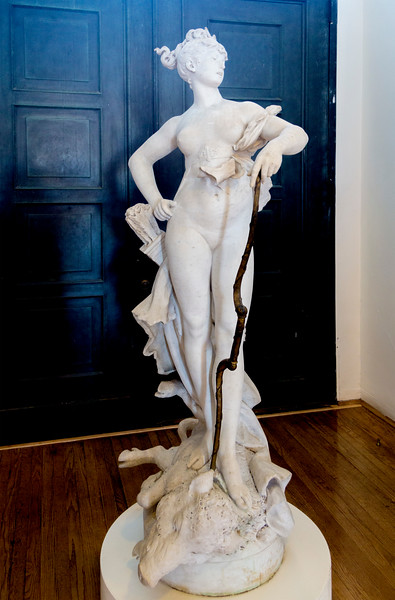 ... She takes special pride in this fine statue of Diana by Carriere-Belleuse who tutored Rodin