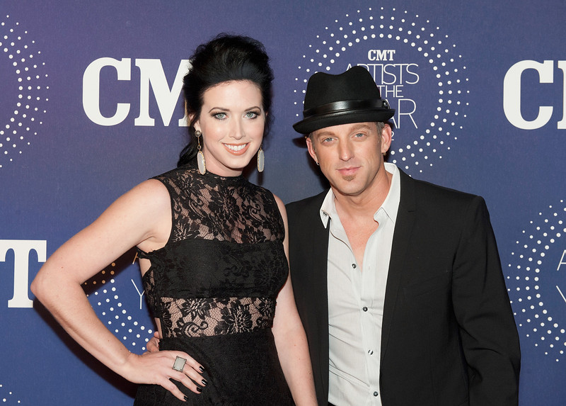 ". Shawna Thompson and Keifer Thompson of Thompson Sqaure attend the 2012 CMT ""Artists Of The Year\"" Awards at The Factory At Franklin on December 3, 2012 in Franklin, Tennessee.  (Photo by Erika Goldring/Getty Images)"