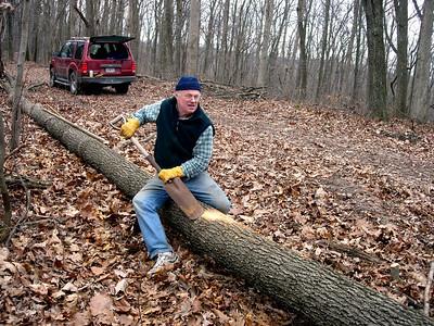 Hancock Log Peeling 1/6 and 1/27/2007