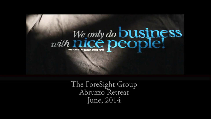 The ForeSight Group Abruzzo Retreat June, 2014.