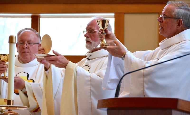 Dn. David, Fr. Ed and Fr. John (Fr. John is the regional superior of Canada)