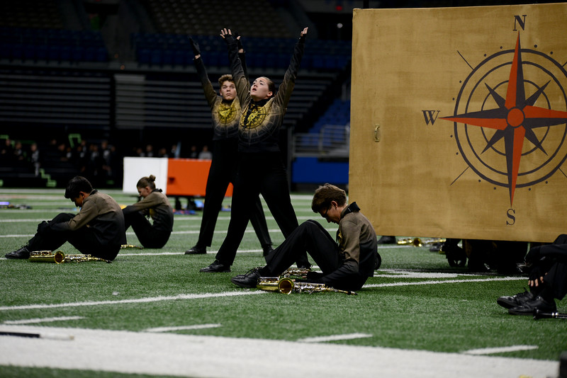 """The Vista Ridge High School marching band performs its show, """"Lost and Found,"""" in the preliminary round of the UIL State Marching Band competition Monday, Nov. 5, 2018."""