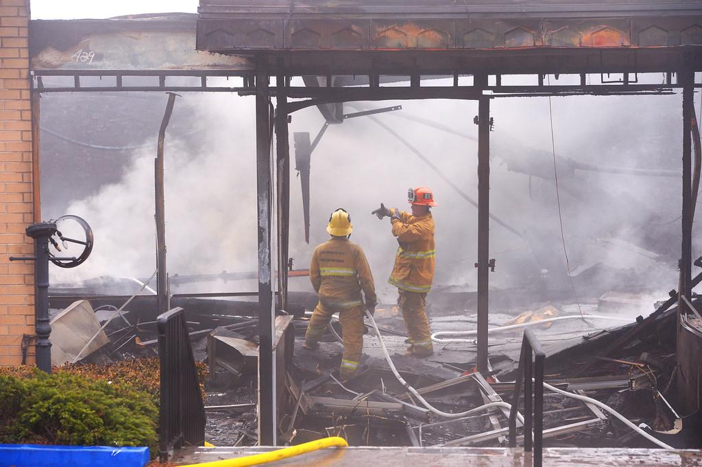 . Elks Lodge fire in San Pedro. (April 15, 2014. Photo by Brad Graverson/The Daily Breeze)