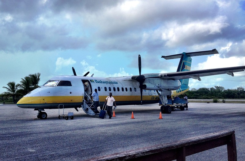 Arriving at Deadman's Cay Aiport, Long Island