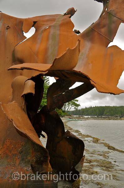 Shipwreck at Tongue Point