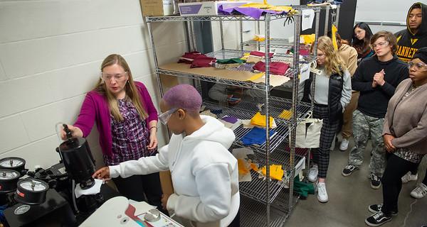 10/10/19 Professor Arlesa Shephard in Textile Evaluation Class