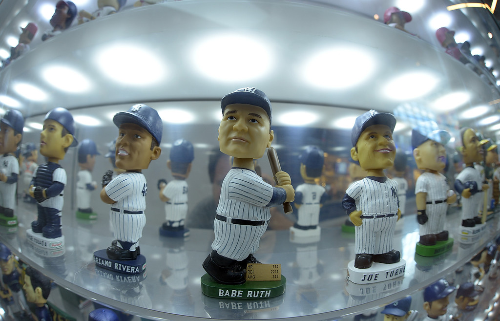 . MIAMI, FL - AUGUST 24: The Bobble Head Museum at Marlins Park is seen during a game between the Miami Marlins andthe Colorado Rockies at Marlins Park on August 24, 2013 in Miami, Florida.  (Photo by Jason Arnold/Getty Images)