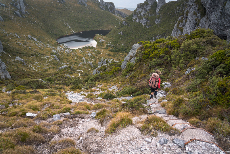 Descent to the campsite at Lake Cygnus