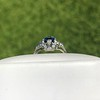 1.41ctw Art Deco Style Aqua and Diamond Dinner Ring 15