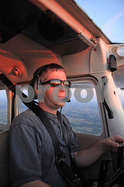 Young civilian pilot in a Cessna.