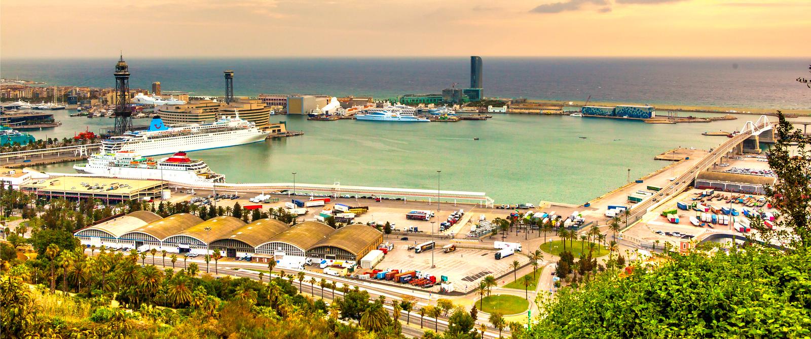 西班牙小岛,全景图
