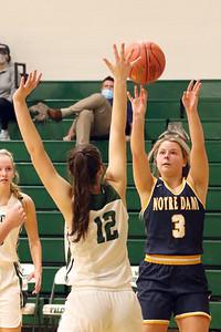 Girls Basketball, Notre Dame vs West Burlington 12/8/2020
