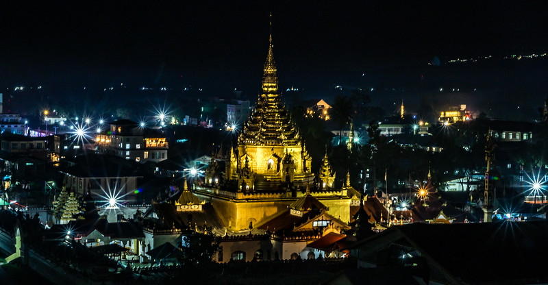 Glistening night view of Pagoda