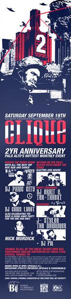 Clique 2 Year Anniversary @ B412 9.19.09