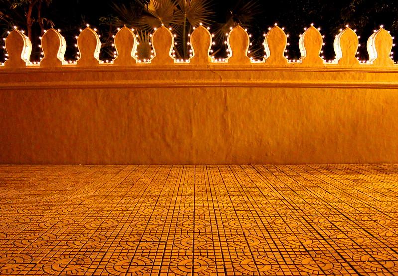 Palace wall all lit-up