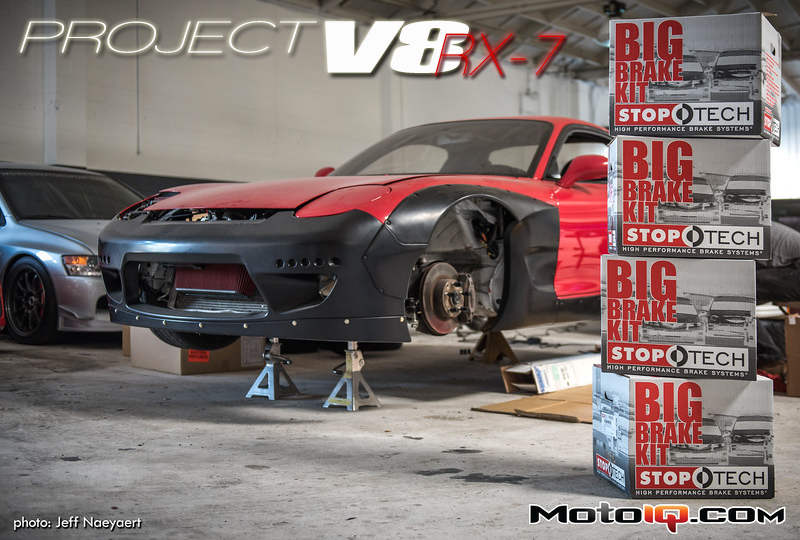 Project V8 RX-7 Rockebunny RX-7 Stoptech Trophy Big Brake Kit