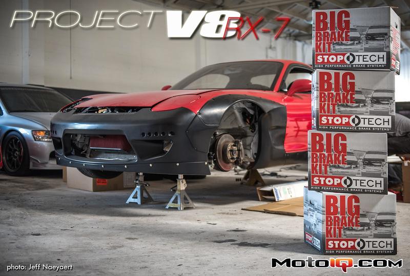 Project V8 RX-7 Rockebunny RX-7 Stoptech Trophy Big Brake Kit
