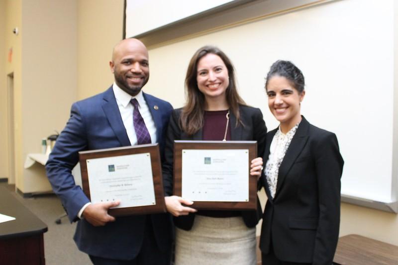 Erin Palmer Polly, Chris Bellamy & Sara Beth Myers, President's Award