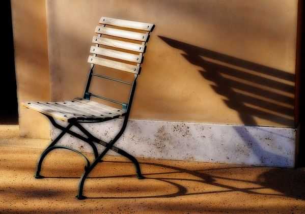 Late Afternoon Solitude* chairs, shadows