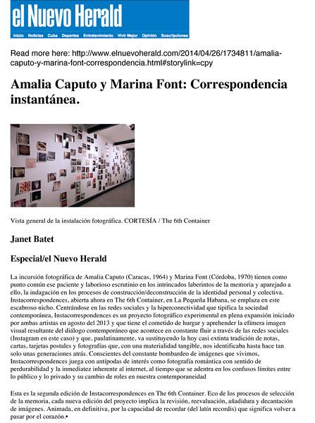 El Nuevo Herald - Instacorrespondences