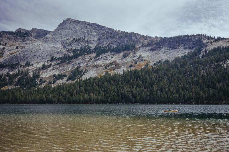 Kayaker on Tenaya Lake