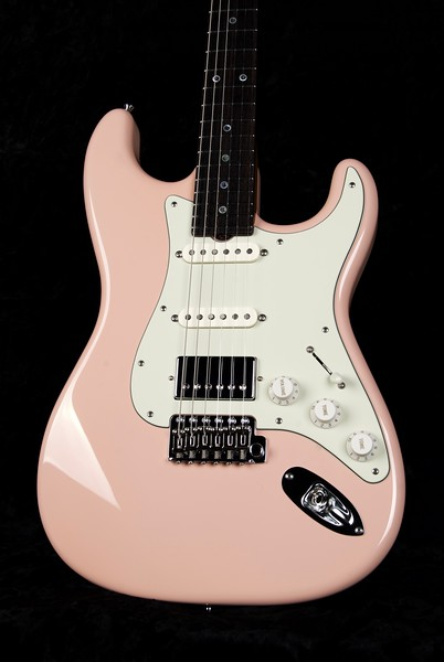 25th Anniversary NOS Retro #3753, Shell Pink, Grosh S/S/H Pickups