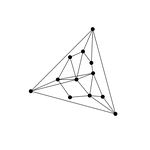 nonplanar Network graph triangle graphic design copyright Lin Yangchen