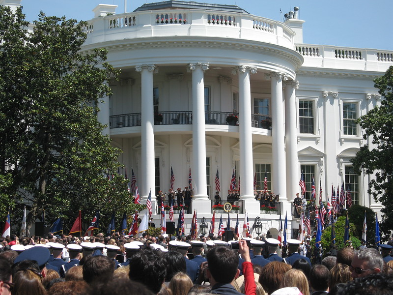 The South Portico Balcony of the White House