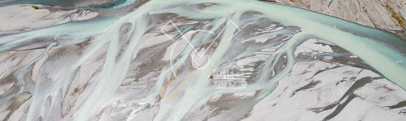 Aerial abstract image of river vains of the braided river The Waimakariri