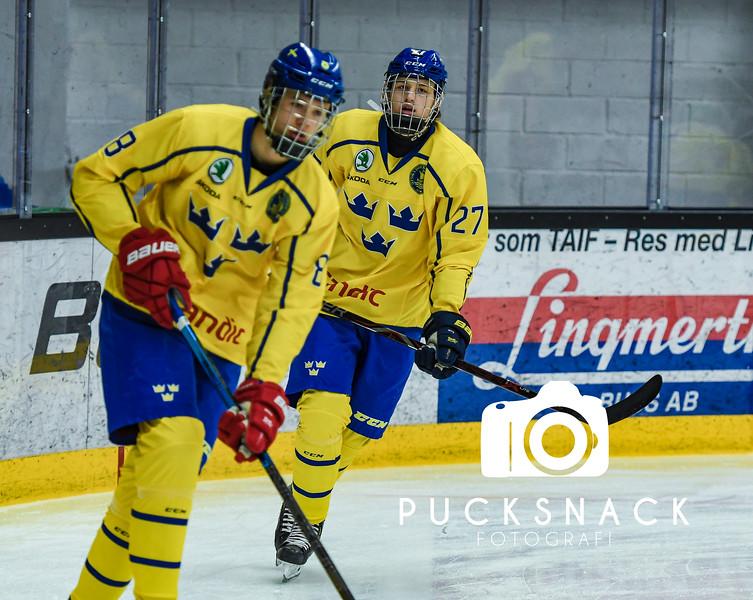 U17 Femnationers i Tranås 2019-02-06:  Team Finland vs Team Sverige