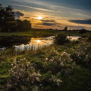 Barnby Dun canal sunset September 2019