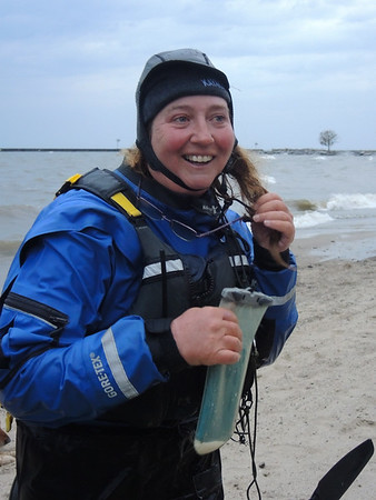 October 26, 2017. Kayaker Traci Lynn Martin, en route to set a Guinness Record, stops in Vermilion for 36 hours.