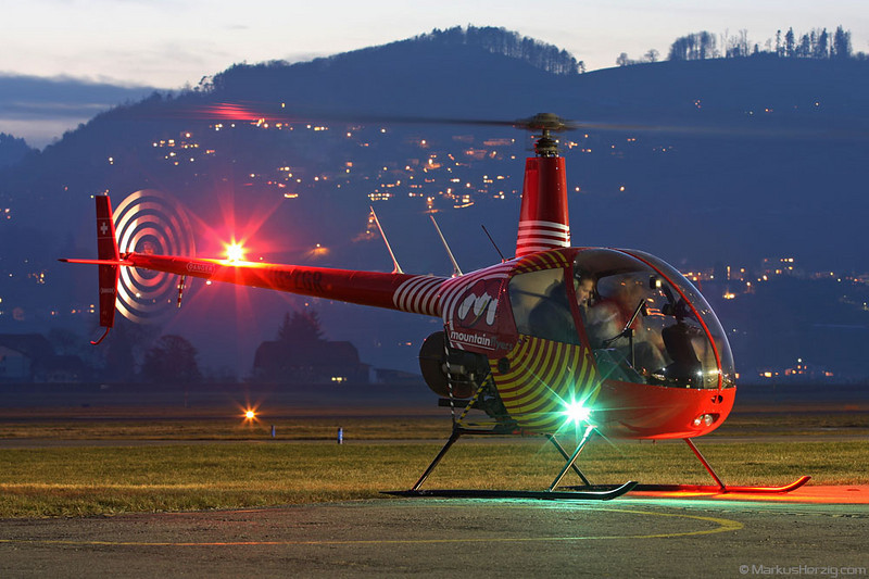 HB-ZGR R22 Beta Mountain Flyers @ Bern Switzerland 3Jan08
