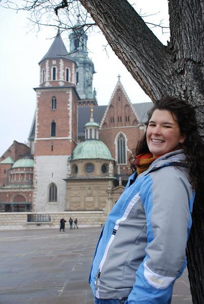 Anna at Wawel Castle 3.JPG