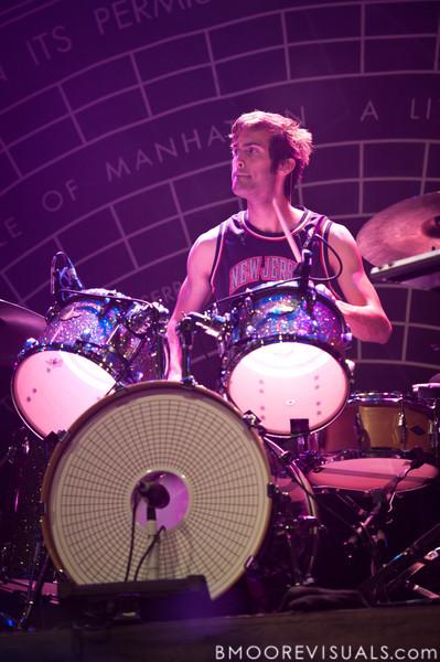 Chris Tomson of Vampire Weekend performs on October 12, 2010 at Jannus Live in St. Petersburg, Florida.