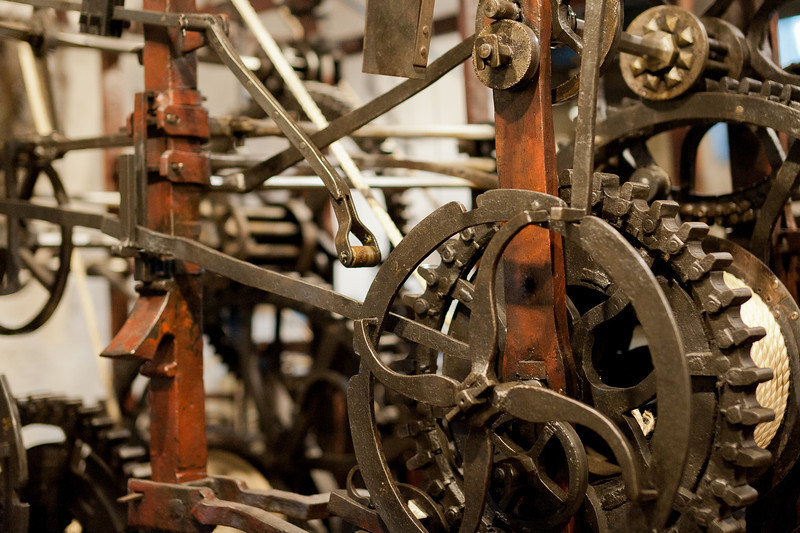 Operating mechanisms inside the Zytglogge Clock Tower in Bern, Switzerland