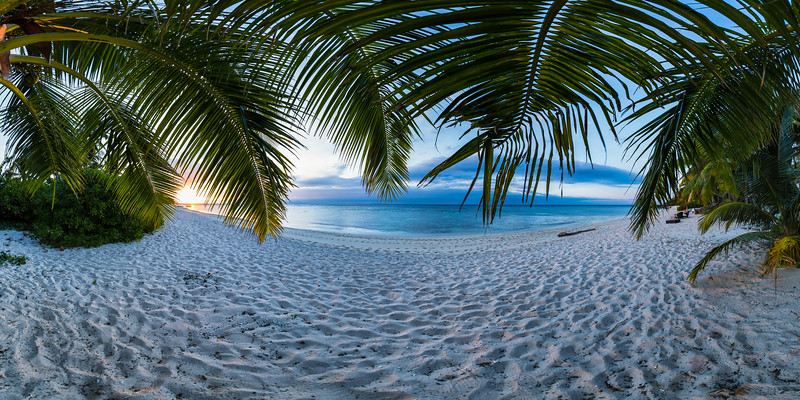 Sunset under the Palms - Vomo - Fiji Islands