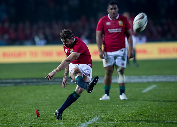 Leigh Halfpenny during game 5 of the British and Irish Lions 2017 Tour of New Zealand,The match between  The Maori All Blacks and British and Irish Lions, Rotorua International Stadium, Rotorua, Saturday 17th June 2017 (Photo by Kevin Booth Steve Haag Sports)  Images for social media must have consent from Steve Haag