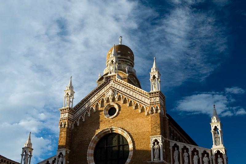 Madonna dell'Orto church (14th century), in Gothic style. Cannaregio quarter, Venice, Italy.