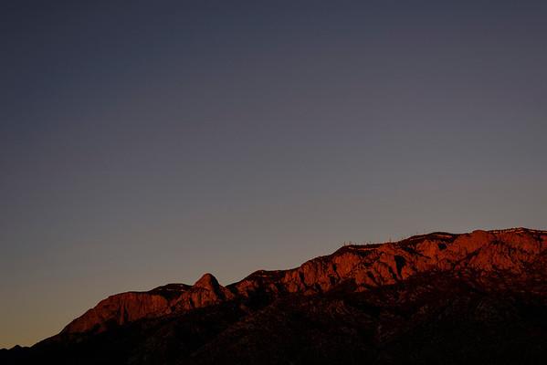 Sunset on Sandias - Timelapse