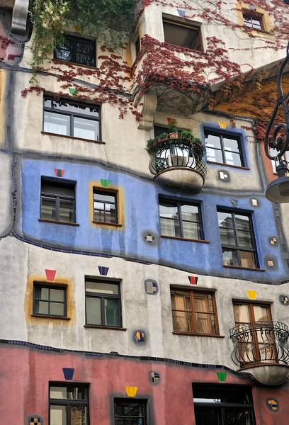 Colorful Hundertwasser House in Vienna