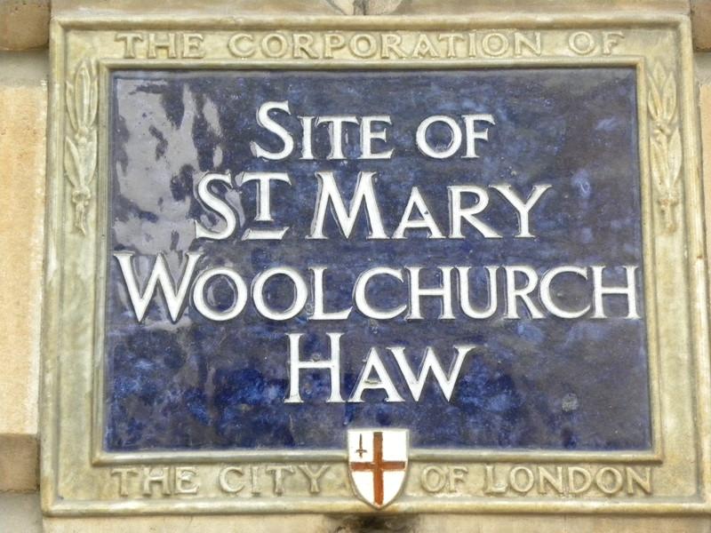CC Plaque St Mary Woolchurch.JPG
