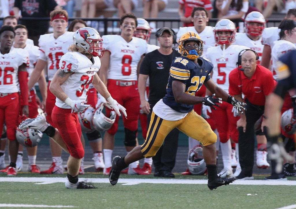 . Tim Phillis - The News-Herald Photos from the Mentor vs. St. Ignatius football game on Sept. 1, 2018, at Byers Field in Parma.