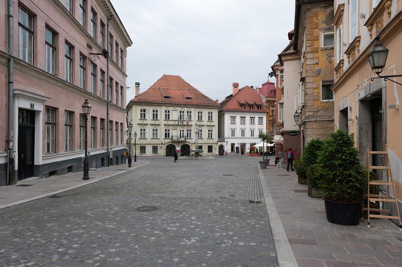 Stari trg (Old Square) in Ljubljana, Slovenia