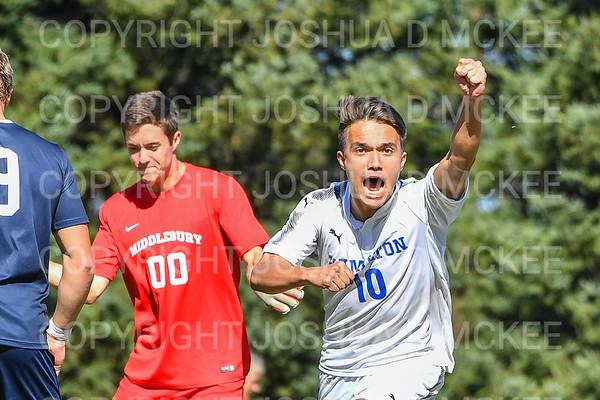 Hamilton Men's Soccer v Middlebury 9-23-18